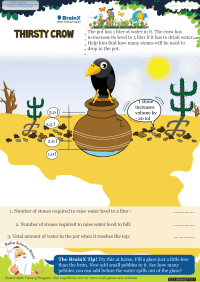 Thirsty Crow worksheet