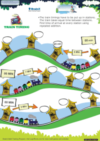 Train Timing worksheet