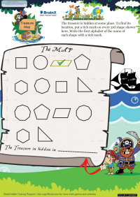 Treasure Map worksheet