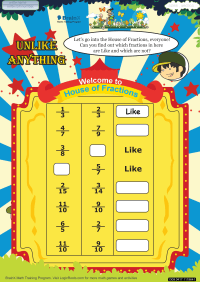 Unlike Anything worksheet
