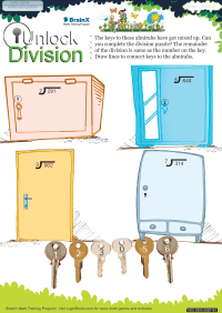 Unlock Division worksheet