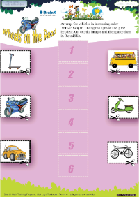 Wheels On The Road worksheet